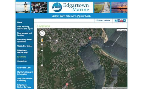 Screenshot of Locations Page edgartownmarine.com - Edgartown Marine - captured Sept. 26, 2014
