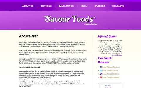 Screenshot of Testimonials Page savourfoods.com.pk - Who we are?  |  Savour Foods - captured Sept. 30, 2014