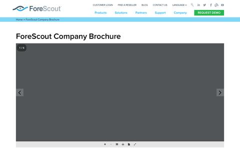 ForeScout Company Brochure  - ForeScout