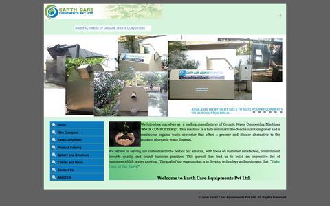 Screenshot of Home Page ecepl.com - Earth Care Equipments Pvt Ltd - www.ecepl.com - captured Jan. 24, 2016