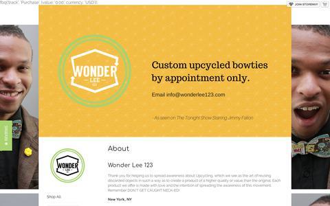 Screenshot of FAQ Page storenvy.com - FAQ · Wonder Lee 123  · Online Store Powered by Storenvy - captured Feb. 17, 2018