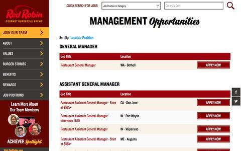 Screenshot of Team Page redrobin.jobs - Management - captured Dec. 16, 2016