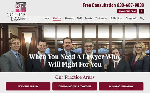 Screenshot of About Page collinslaw.com - The Collins Law Firm, P.C. | Environmental And Personal Injury Lawyers - captured Feb. 19, 2017