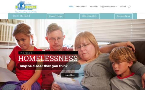 Screenshot of Home Page goodneighborcenter.org - Good Neighbor Center   - captured May 21, 2017