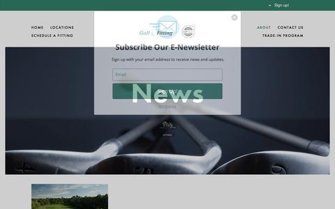 Screenshot of Press Page golffittingstudios.com - News — Golf Fitting Studios - captured July 21, 2018