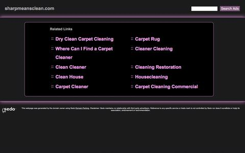 sharpmeansclean.com - cleaning carpet cleaning air duct cleaning Sharp Carpet Air Duct Cleaning service services water Resources and Information.
