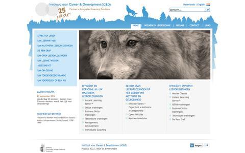 Screenshot of Home Page ic-d.nl - Instituut voor Career en Development - Home - captured Oct. 6, 2014