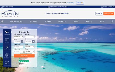 Screenshot of Jobs Page paramountbusinessjets.com - Private Jet Charter Broker Jobs - Specialists Wanted - captured July 15, 2018