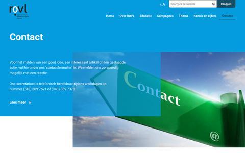 Screenshot of Contact Page rovl.nl - Contact   ROVL - captured Nov. 13, 2017
