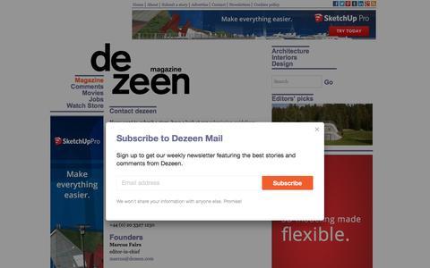Screenshot of Contact Page dezeen.com - Contact dezeen - Dezeen - captured Dec. 3, 2015