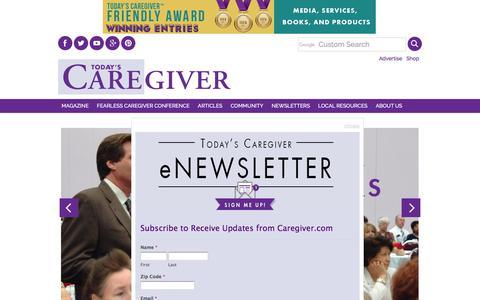 Screenshot of Home Page caregiver.com - Today's Caregiver - Caregiver.com - captured June 26, 2017