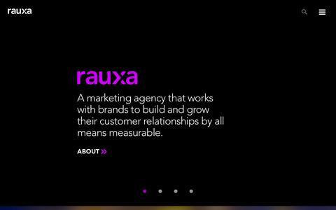 Screenshot of Home Page rauxa.com - Full-Service Marketing Agency Rauxa | - captured Nov. 11, 2016