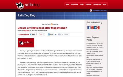 Screenshot of Blog railsdog.com - Blog - captured Oct. 6, 2014