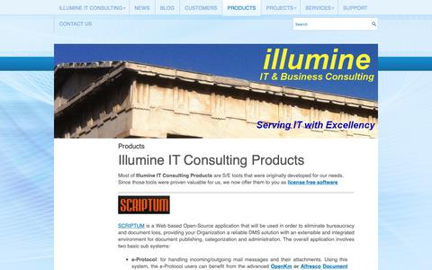 Screenshot of Products Page illumine.gr - Products | Illumine IT Consulting - captured Sept. 28, 2018