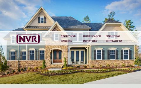 Screenshot of Home Page nvrinc.com - NVR, Inc is the parent company of Ryan Homes, NVHomes, and Fox Ridge Homes and is one of the nation's leading homebuilders - captured Sept. 23, 2014