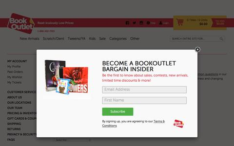 Screenshot of Support Page bookoutlet.ca - Create A Ticket - captured Aug. 30, 2016