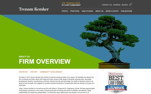 Screenshot of About Page trenam.com - Overview | Trenam Kemker - captured Oct. 7, 2014