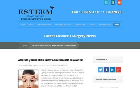 Screenshot of Blog Press Page esteemstudio.com.au - Latest Cosmetic Surgery News - Esteem Cosmetic Studio - captured Jan. 24, 2016