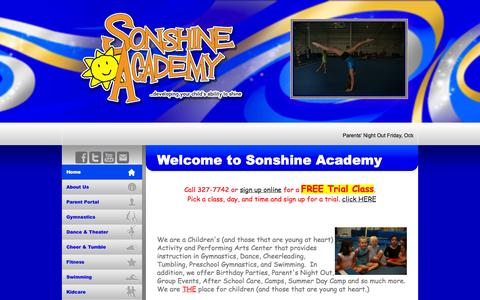 Screenshot of Home Page sonshineacademy.com - Sonshine Academy - captured Oct. 9, 2014