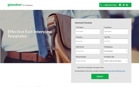 Screenshot of Landing Page glassdoor.com - 15 Must-Ask Exit Interview Questions & Templates - captured July 3, 2017