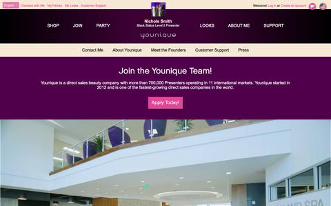 Screenshot of Jobs Page youniqueproducts.com - Join the Team - captured Oct. 19, 2018