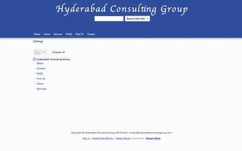 Screenshot of Site Map Page google.com - Sitemap - Hyderabad Consulting Group - captured July 19, 2016