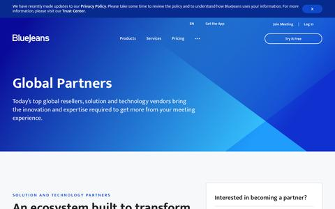 Partner Programs | BlueJeans