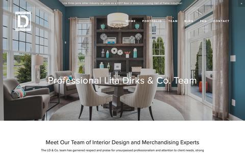Screenshot of Team Page litadirks.com - Team - Lita Dirks & Co. Interior Design and Merchandising Firm - captured Sept. 29, 2018