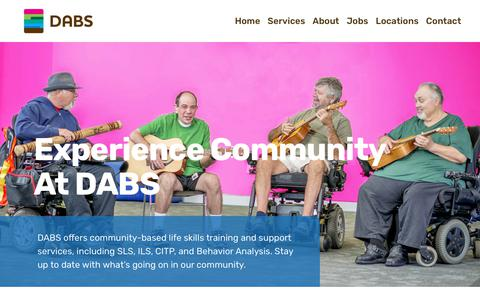 Screenshot of Press Page dabsinc.com - Developmental Disability Services Blog | DABS - captured Nov. 6, 2018