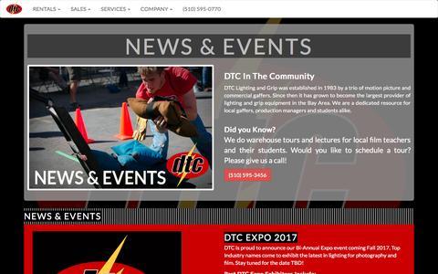 Screenshot of Press Page dtcgrip.com - DTC Grip & Electric - captured Nov. 23, 2016