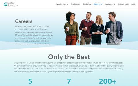 Screenshot of Jobs Page digitalremedy.com - Careers - Digital Remedy - captured Oct. 11, 2019