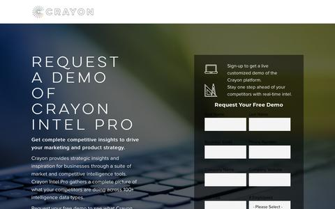 Screenshot of Demo Page crayon.co - Free Demo of Crayon Competitive Intelligence - captured April 6, 2018
