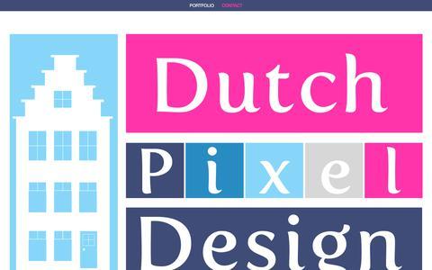 Screenshot of Contact Page dutchpixeldesign.com - Contact | Dutch Pixel Design - captured June 5, 2017