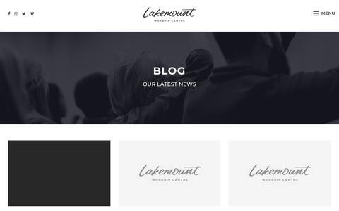 Screenshot of Blog lakemount.ca - Blog   Lakemount Worship Centre - captured Sept. 26, 2018