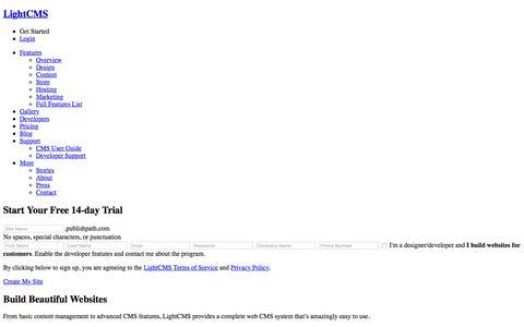 CMS, Website Builder, Content Management System | LightCMS