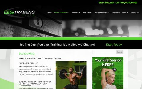 Elite Training Tulsa | Bodybuilding | Elite Training