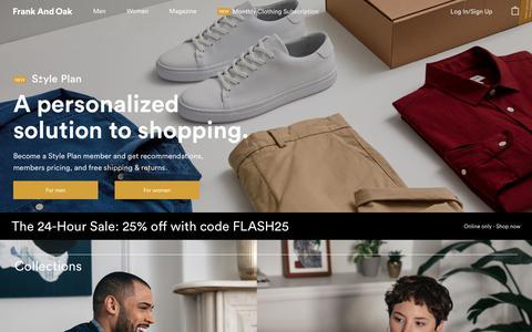 Shop Men's Clothing & Women's Styles   Frank And Oak