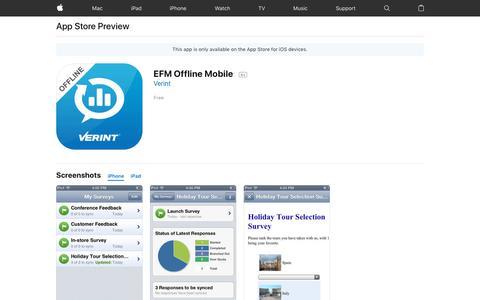 EFM Offline Mobile on the AppStore