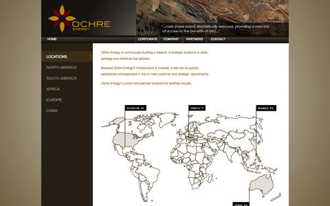Screenshot of Locations Page ochreenergy.com - Ochre Energy - Locations - captured Sept. 30, 2014