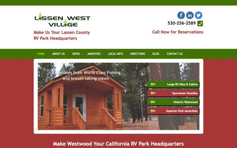 Screenshot of Home Page rvparklassen.com - RV Park Lassen County | RV Camping California - captured Oct. 2, 2014