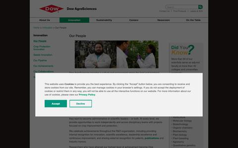 Screenshot of Team Page dowagro.com - Our People | Dow AgroSciences - captured Oct. 20, 2018