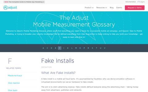 Fake Installs | Adjust