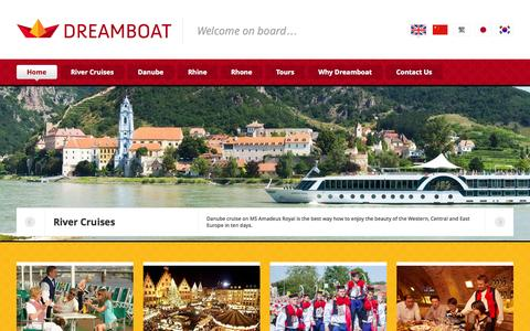 Screenshot of Home Page dreamboat.eu - Dreamboat - Come to Europe - captured Oct. 6, 2014