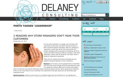 Screenshot of Team Page floradelaney.com - Leadership | Delaney Consulting and Creative - captured Oct. 12, 2017