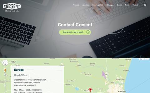 Screenshot of Contact Page cresent.co.uk - Contact Cresent - Cresent - captured Dec. 13, 2015