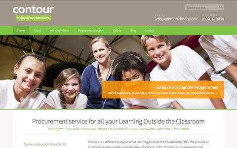 Screenshot of Home Page contourschools.co.uk - Home | Contour - captured Oct. 3, 2014