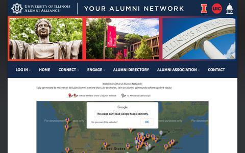 Screenshot of Maps & Directions Page uialumninetwork.org - UI Alumni Network - captured Oct. 21, 2018