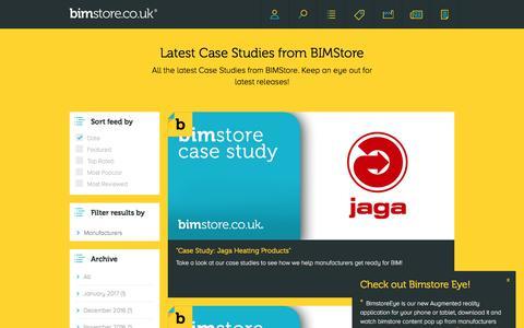 Screenshot of Case Studies Page bimstore.co.uk - Latest Case Studies from BIMStore | BIMstore - captured July 1, 2017