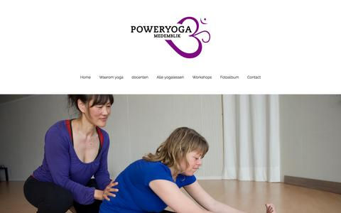 Screenshot of Contact Page poweryoga-medemblik.nl - Contact - captured Dec. 10, 2015