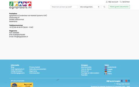 Screenshot of Contact Page agriplaats.nl - Contact - captured Oct. 3, 2018